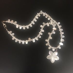 Beautiful Pearly White Pendant Necklace